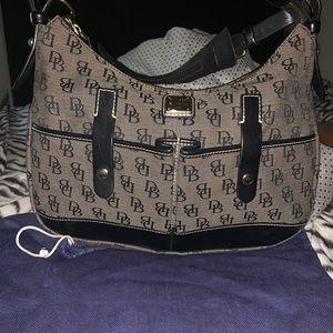 Gray an black Dooney and Bourke hobo shoulder bag